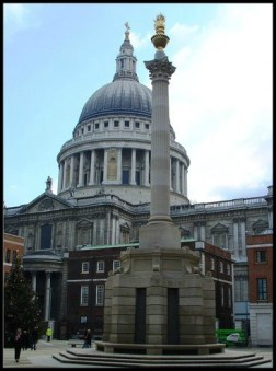 Paternoster Square - Column and St Paul's