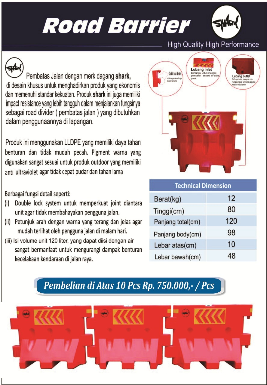 road barrier murah, jual road barrier shark, road barrier shark murah