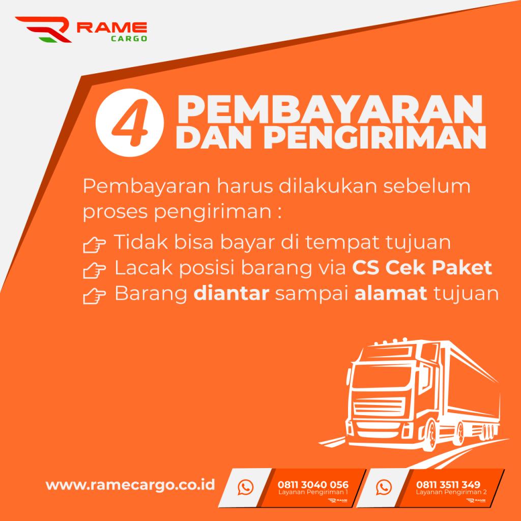 Langkah Pengiriman Paket via Rame Cargo