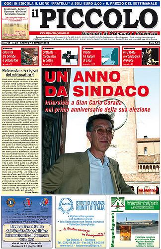 Copertina del Piccolo Giornale dell'11 giugno 2005