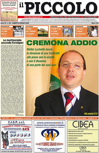 Copertina del Piccolo Giornale del 2 luglio 2005