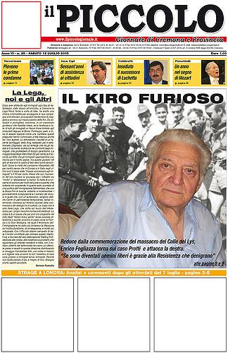 Copertina del Piccolo Giornale del 16 luglio 2005