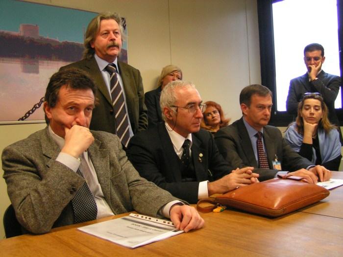La conferenza stampa del 3 febbraio 2005 alla centrale di Caorso