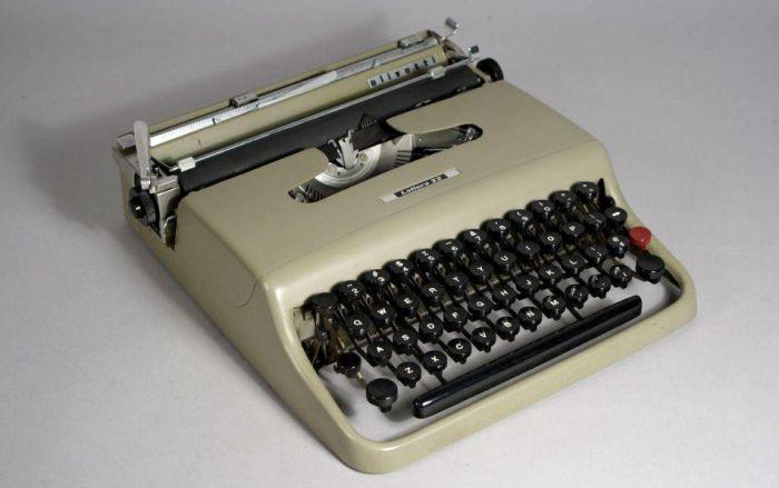 La mitica Olivetti Lettera 22