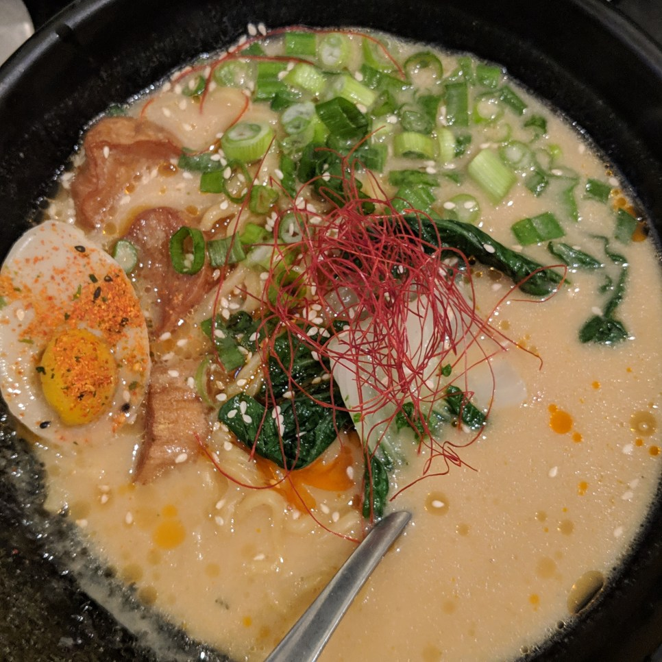 Spicy Ramen with Sunflower Seed Broth