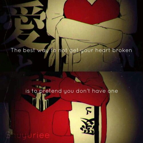 anime quotes about broken heart