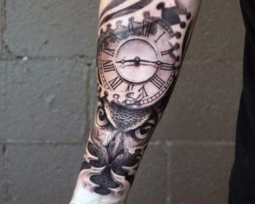 clock time tattoo