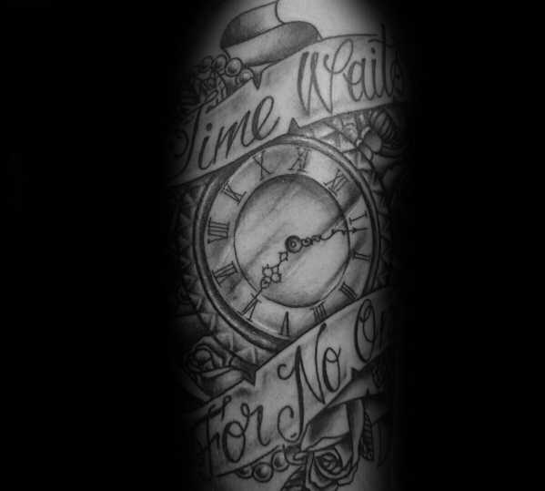 time tattoo design