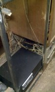 Welded in a refrigerator frame and installed a safe