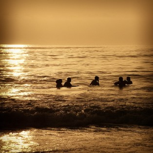 Boys at sunset, Iquique, Chile.