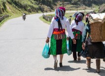 Hill tribe ladies headed back from the market, wearing their best clothes.