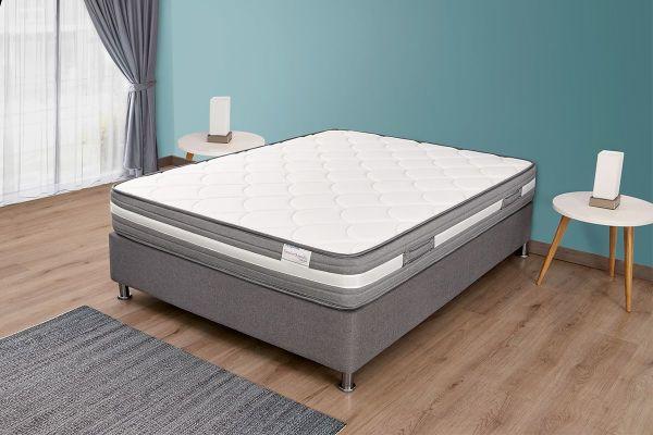 Combo colchón SemiOrthopedic de Ramguiflex®, centro de espuma Flexible de Poliuretano Poliflex de alta densidad con alto nivel de confort