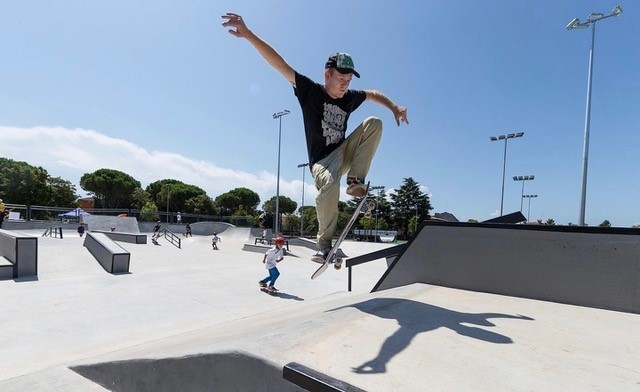 Lignano Sabbiadoro inaugura il nuovo Skate Park con l'arrivo dei campionati italiani  Image of Lignano Sabbiadoro inaugura il nuovo Skate Park con l'arrivo dei campionati italiani