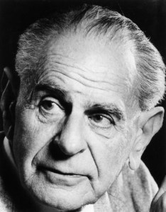 Karl Popper in the 1980's.