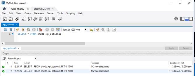 Query Performance on MySQL running on VM