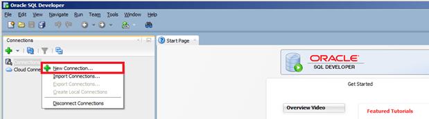 SQL Developer - הגדרת יוזר SYS