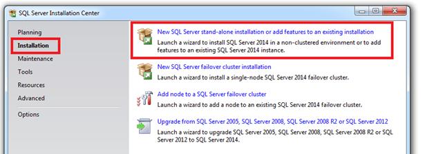 התקנת SQL SERVER 2014 - שלב 1