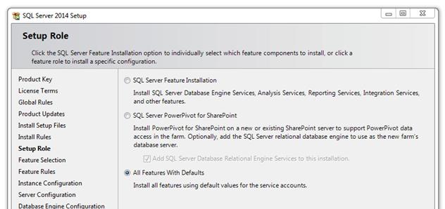 התקנת SQL SERVER 2014 - שלב 5
