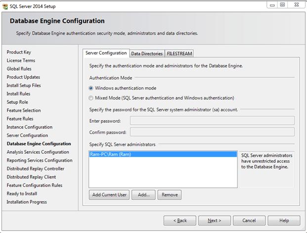 התקנת SQL SERVER 2014 - שלב 9