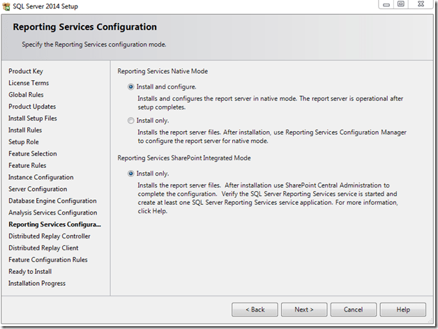 התקנת SQL SERVER 2014 - שלב 11