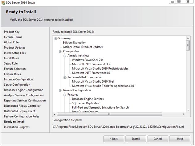 התקנת SQL SERVER 2014 - שלב 13