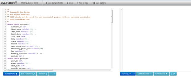 תרגול SQL אונליין