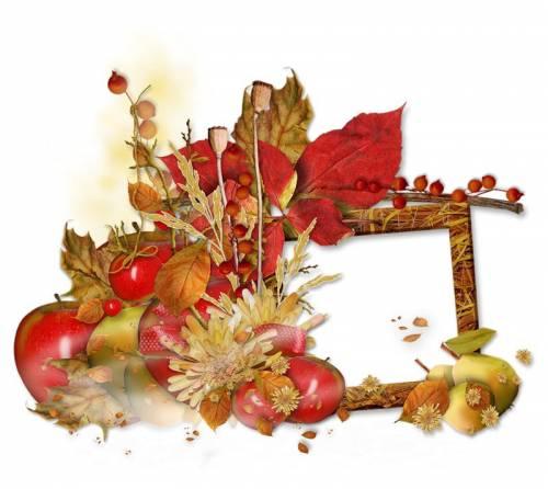 Рамки для текста фото поздравления: Осень. Красные листья ...
