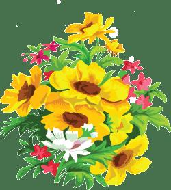 Цветы клипарт png высокого разрешения растровый