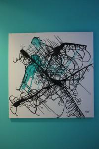 Abstract Neuronal Network - Turqoise by Ramona Romanu