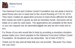 Ramona Food & Clothes Closet Foundation