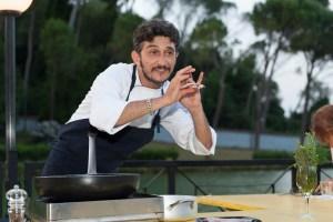 Showcooking Marco gallotta 4 luglio 2014 villa ada - foto Flaminia Nobili