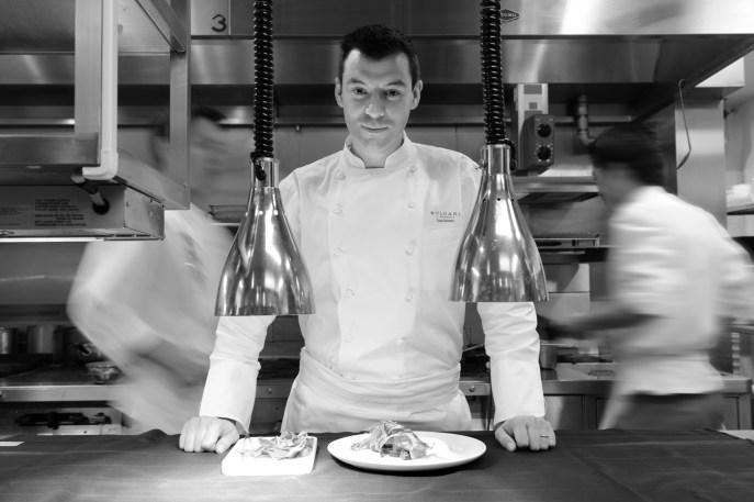 "lo chef Luca Fantin- "" Il ristorante di Luca Fantin di Bulgari""a Tokyo-Japan Restaurant Week"