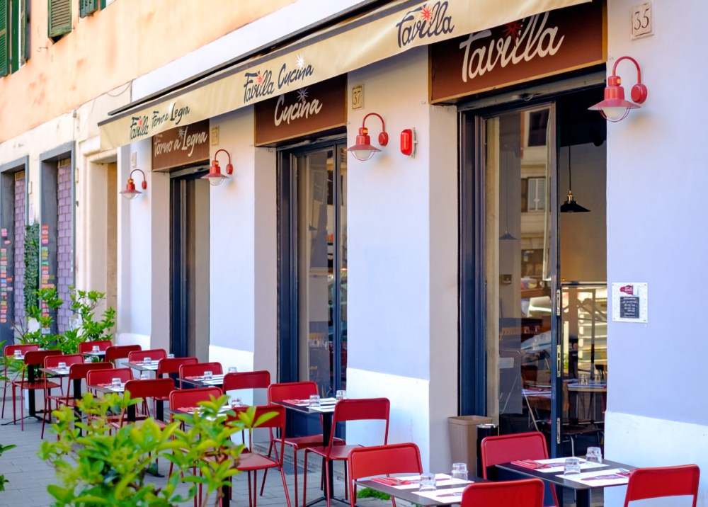 Esterno della pizzeria Favilla a Roma