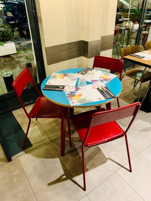 Tavolino della pizzeria Favilla a Roma