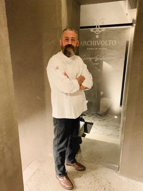chef Giorgio Baldari Archivolto Roma