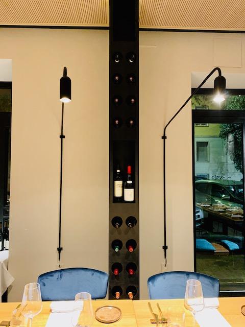 lampade artigianali del ristorante Almatò Roma