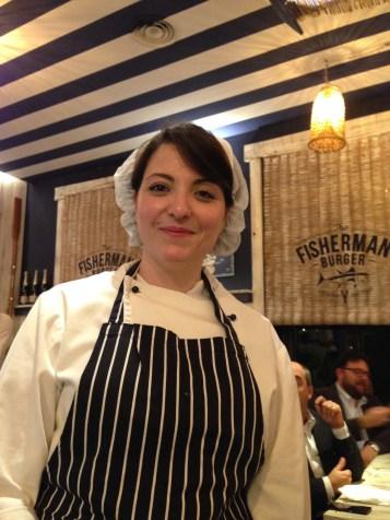 The Fisherman Burger- ristopescheria-Roma- Grande Blu- Mediterraneo in tavola