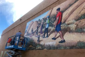 Mural: Hiking on Mt. Woodson