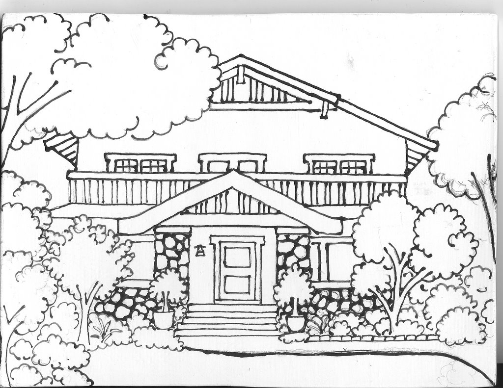 Tcheng House Drawing On Tile