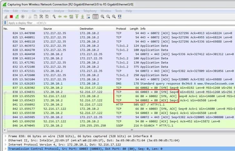 cum functioneaza protocolul tcp pe router