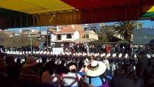 Parada Militar con Presidente Evo