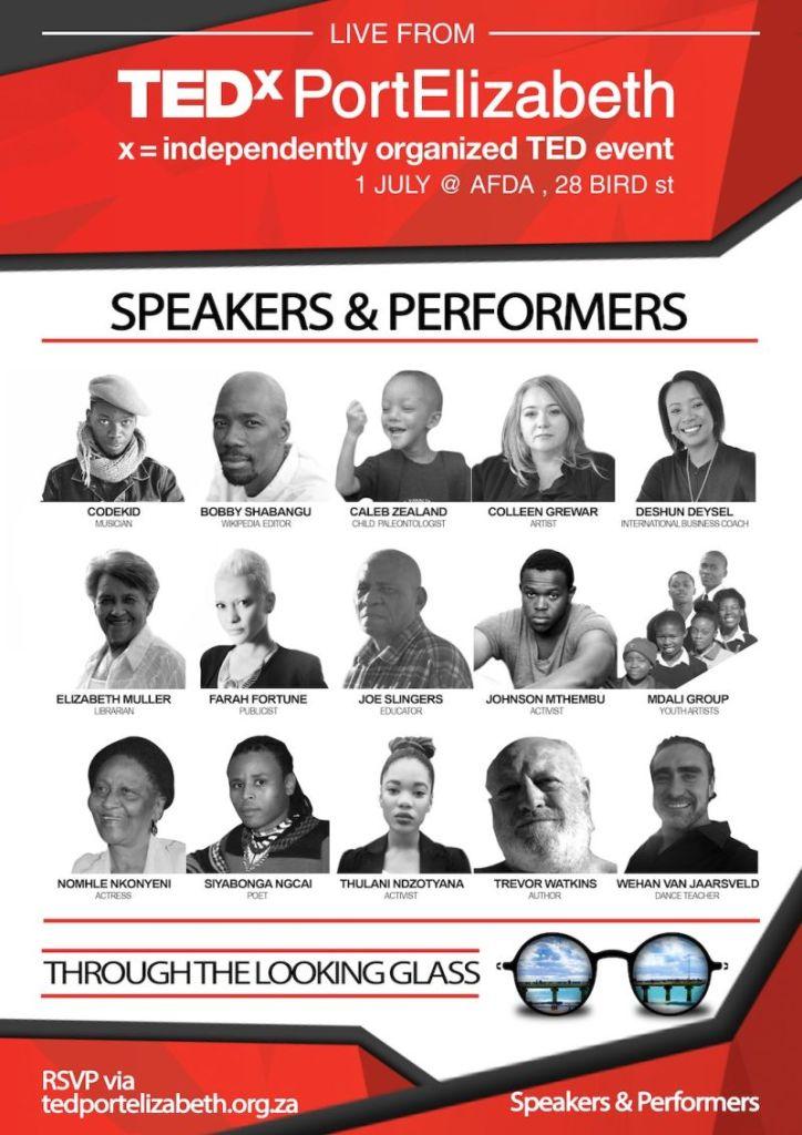 TEDxPortElizabeth 2016 Conference line-up