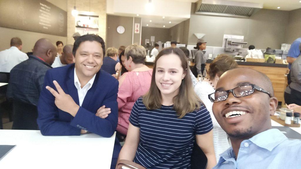 Ramon Thomas, Jesse February and Melikhaya Gela in Port Elizabeth