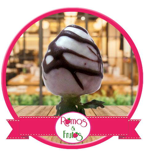 Fresa con Chocolate Blanco