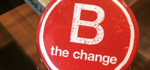 B Corp button