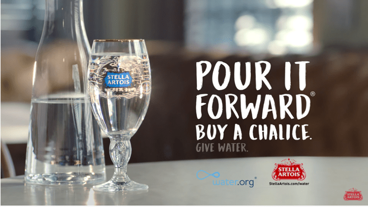 Partnerships: Pour it forward corporate social responsibility partnership with Stella Artois and Water.org