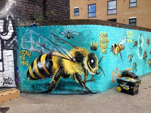 save the bees masai mural