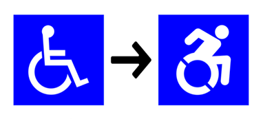 Old access symbol alongside new proposed access symbol