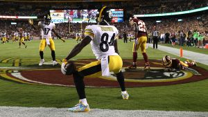 Antonio Brown twerking in the end zone