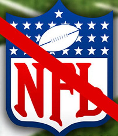 NFL logo crossed out
